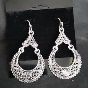Sterling Silver Boho Earrings J-837